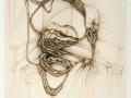 Fred Deux gravure Autoportrait De la solitude 1983