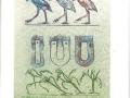 Max Ernst- N° 7194 litho unique surimprimée,3X23 cm 1972