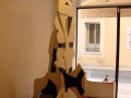 Œuvre de Georges Lauro sculpture bois peint