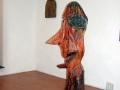 Œuvre de Jean-Rosset sculpture bois peint