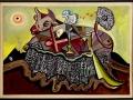 Jean Deldevez- Hommage à Picasso huile et collage sur carton 52x76 cm non daté