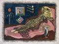 Jean Deldevez  N° 4224  huile sur Isorel  64x49 cm 1973