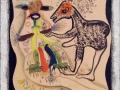 Jean Deldevez N° 4237 huile et collage sur Isorel 58x46 cm