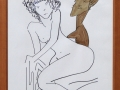 Man-Ray-N°-6992-Juliette-et-statuette-dessin-feutre-et-sepia-64x50-cm-1963